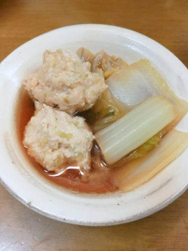 Japanese stew; Chicken meatball and Chinese cabbage   stew recipes from Japanese kitchen